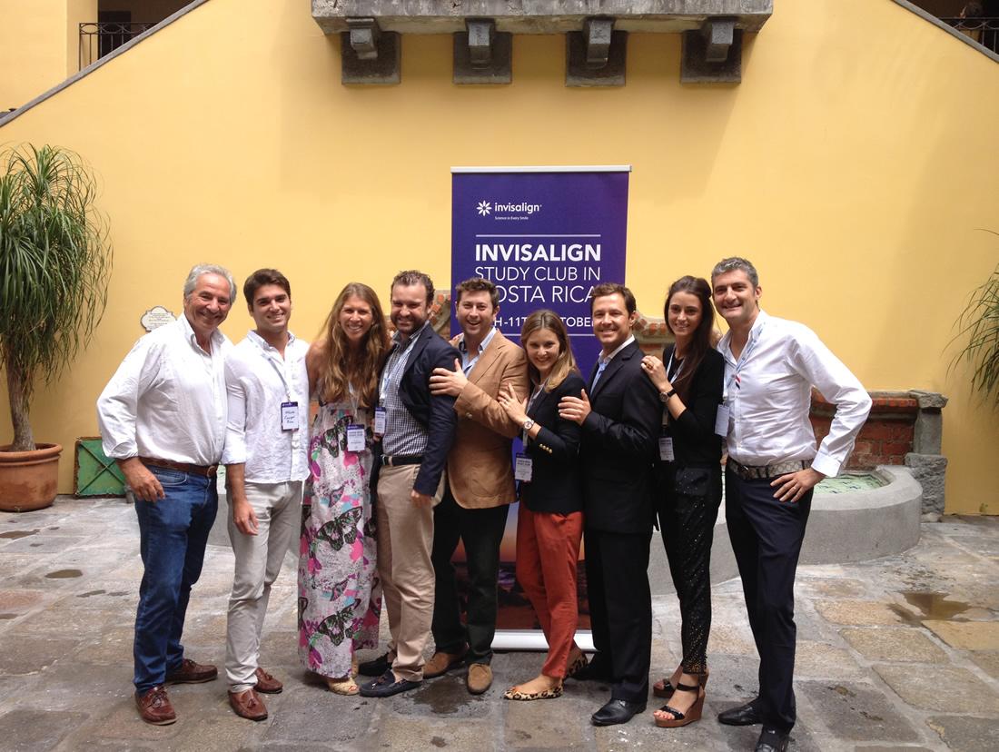 Representación de los Doctores Españoles en el Study Club de Invisalign, Costa Rica.